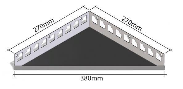 HK Edelstahl Duschablage befliesbar Dreieck 270x270x380mm