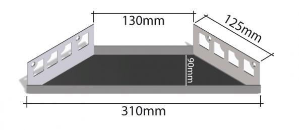 HK Edelstahl Duschablage befliesbar Ecke 125x310mm