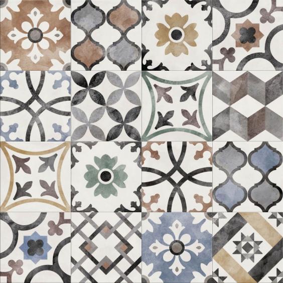 ABK Ceramiche Play Classic Mix Multi-Color 20x20cm