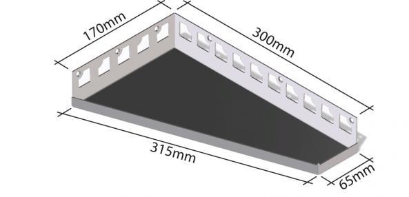 HK Edelstahl Duschablage befliesbar Trapezförmig 170x300x65mm