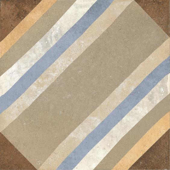 Rondine Swing Dekorfliese (Boden) Beige Multicolor04 20,3x20,3cm