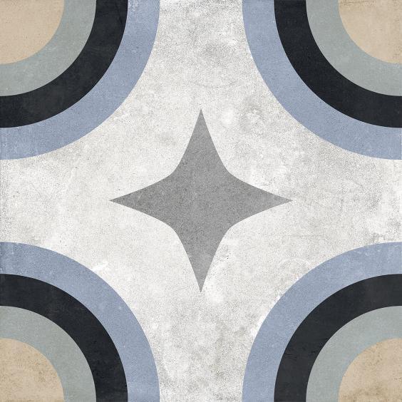 Rondine Swing Dekorfliese (Boden) Blue02 20,3x20,3cm