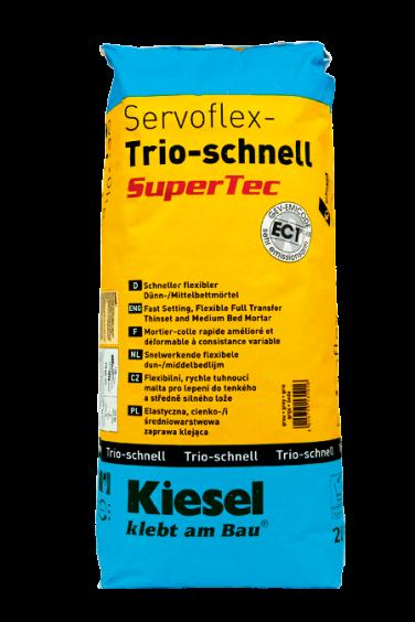 Kiesel Bauchemie Fliesenkleber Servoflex-Trio-schnell SuperTec Grau 20kg