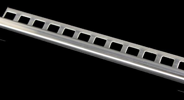 Dural Quadratprofil Edelstahl glänzend 12,5 mm LAC 1270 250 cm