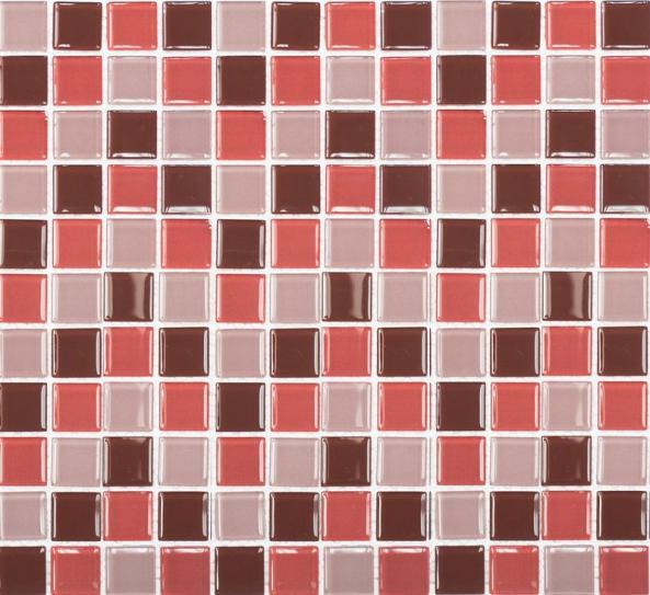 Mosaik Glas Braun Rot Mix 30x30cm