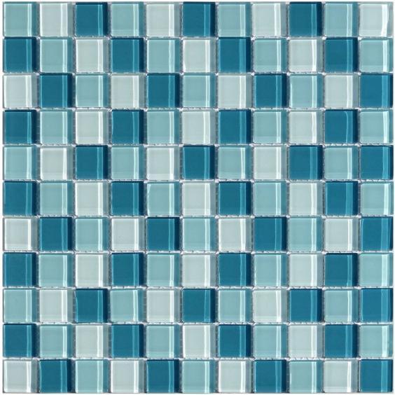Mosaik Glas Dunkel Grün Mix 30x30cm