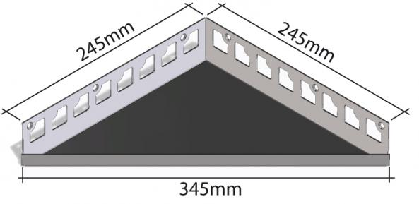 HK Edelstahl Duschablage befliesbar Dreieck 245x245x345mm