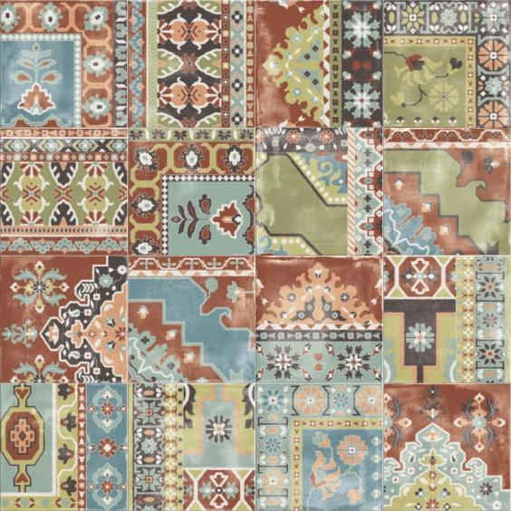 ABK Ceramiche Play Carpet Mix Multi-Color 20x20cm