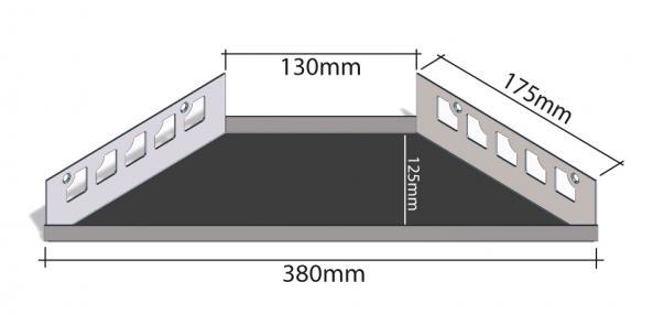 HK Edelstahl Duschablage befliesbar Ecke 175x380mm