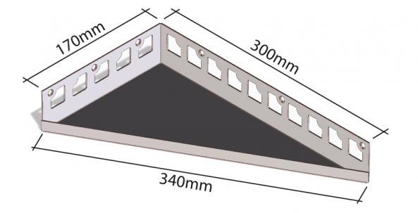 HK Edelstahl Duschablage befliesbar Eckvarianten 170x300x340mm