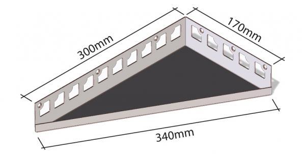 HK Edelstahl Duschablage befliesbar Eckvarianten 300x170x340mm
