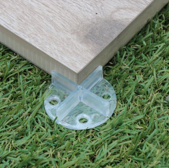 Fugenkreuze mit Bodenplatte transparent 100 Stk.