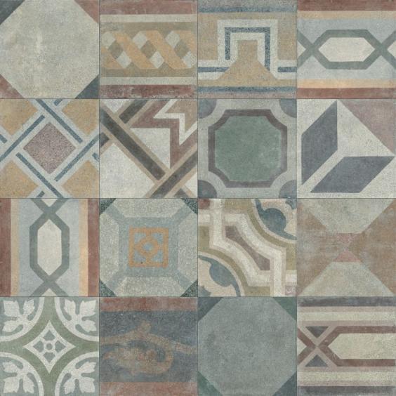 ABK Ceramiche Play Concrete Retrò Mix 20x20cm