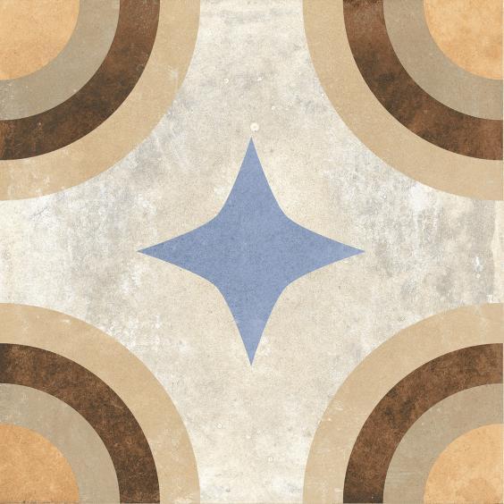 Rondine Swing Dekorfliese (Boden) Beige Multicolor02 20,3x20,3cm
