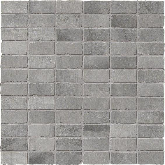 Dom Ceramiche Entropia Betonoptik Mosaik Muretto Grigio 30x30cm (2,5x5cm)