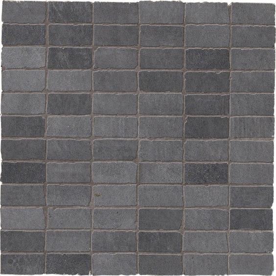 Dom Ceramiche Entropia Betonoptik Mosaik Muretto Antracite 30x30cm(2,5x5cm)