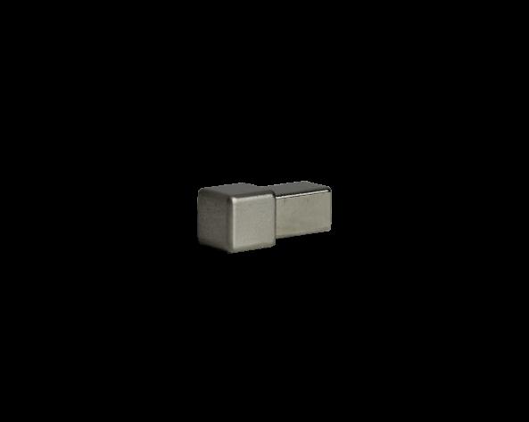 Dural Quadratprofil Außen- und Innenecken Edelstahl gebürstet 11 mm