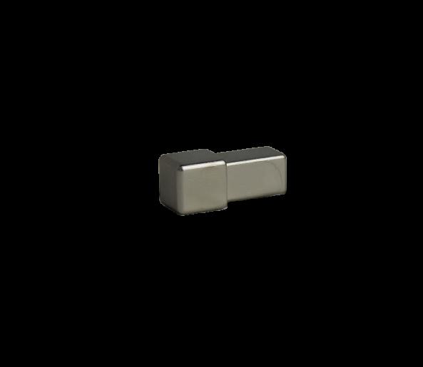 Dural Quadratprofil Außen- und Innenecken Edelstahl glänzend 10 mm