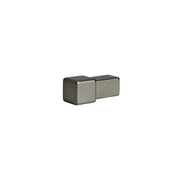 Dural Quadratprofil Außen- und Innenecken Edelstahl gebürstet 12,5 mm DPSE 125-SF-Y ECO
