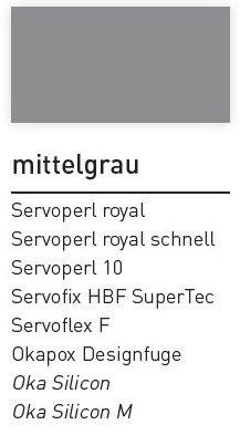 Kiesel Servoflex F Universal Fugenmasse Mittelgrau 20kg