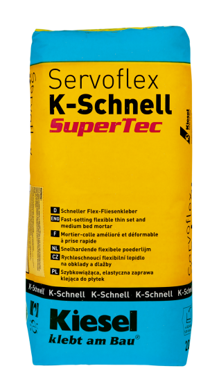 Kiesel Bauchemie Fliesenkleber Servoflex K-Schnell SuperTec 20kg