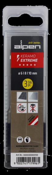 Alpen Drills Glasbohrer Keramo Extreme Ø 6,8,10mm 3er-Set