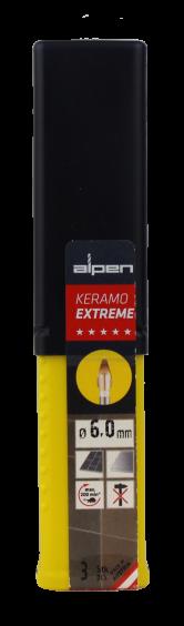 Alpen Drills Fliesenbohrer und Glasbohrer Keramo Extreme Ø 6mm 3er-Set