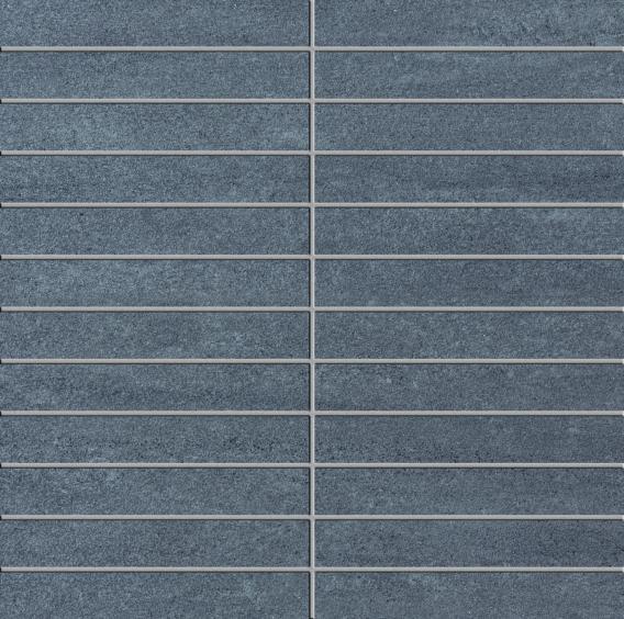 Ermes Aurelia Kronos Fumo Mosaik anpoliert 30x30cm (2,5x15cm)