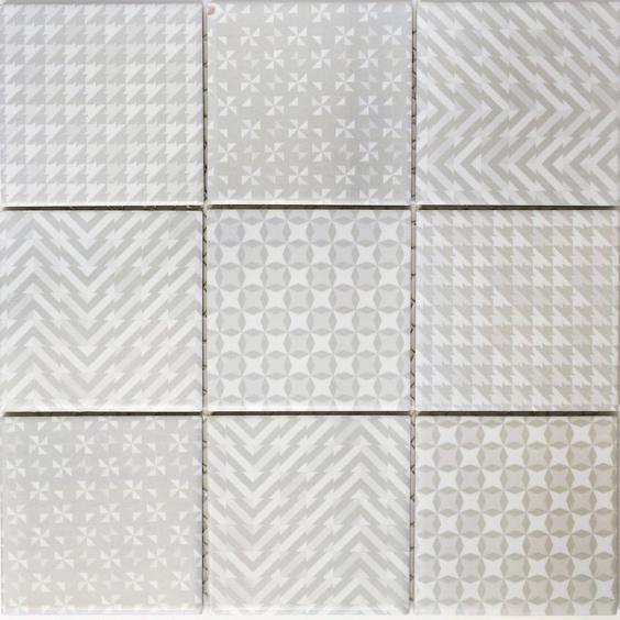 Mosaik Keramik Retro Beige 30x30cm
