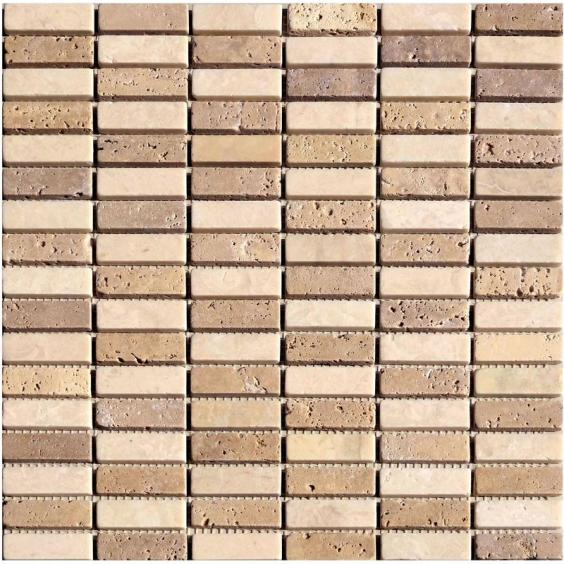 Mosaik Naturstein Stick Noce Cream Mix 30,5x30,5cm