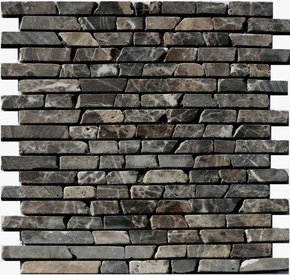 Mosaik Naturstein Linebrick Castano 30,5x30,5cm