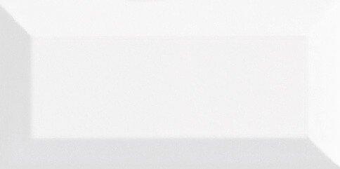 Metro Facette Dekorfliese (Wand) Weiss Matt 7,5x15cm