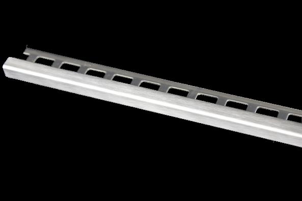 Dural Quadratprofil Edelstahl gebürstet 11 mm LAC 1172 250 cm