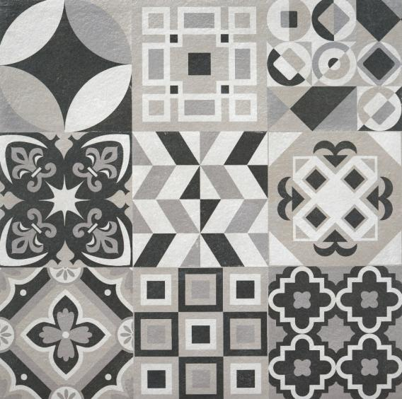 Rocersa Make Up Feinsteinzeug Terrassendekorfliese Hidra Cold Vintage Dekor 60x60x2cm rektifiziert
