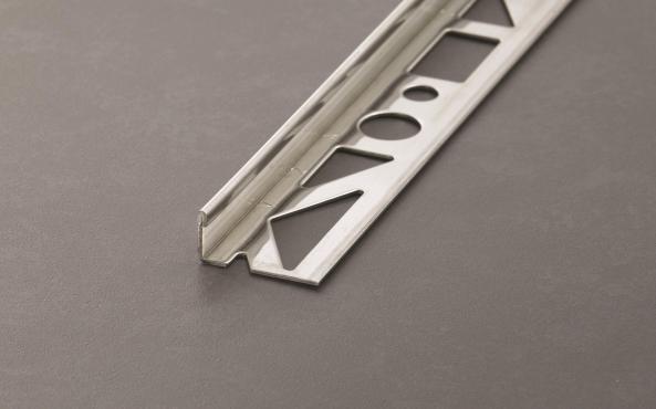 Profloor Fliesenprofil Winkelabschluss Edelstahl glänzend (V2A) Länge 2,5m