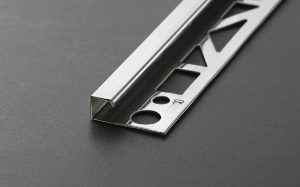 Prodecor Q Quadratprofil Winkelabschluss Edelstahl glänzend (V2A) Länge 2,5m