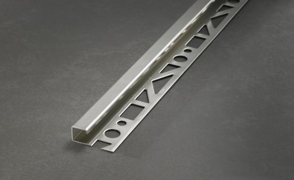 Prodecor Q Fliesenprofil Quadrat Winkelabschluss Edelstahl gebürstet (V2A) Länge 2,5m