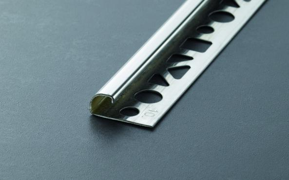 Proround Fliesenprofil Rund Winkelabschluss Edelstahl glänzend (V2A) Länge 2,5m 11 mm