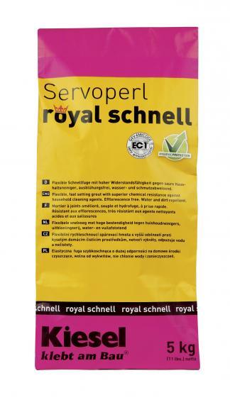 Kiesel Servoperl Royal Schnell Fugenmasse Mittelgrau 5kg