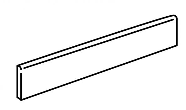 Caesar Slab Sockel Silver 7,2x60cm