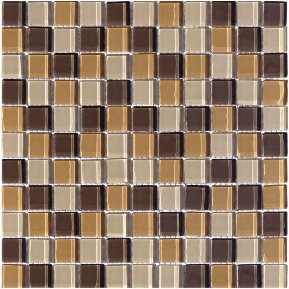 Mosaik Glas Braun Mix 30x30cm