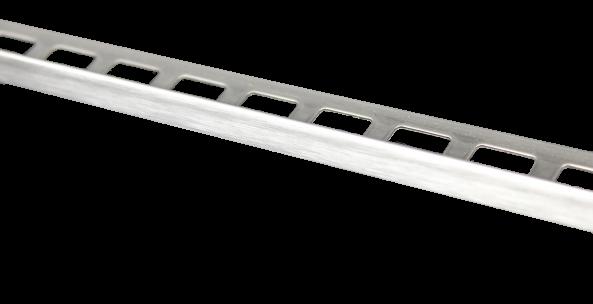 Dural Fliesenprofil Winkel Edelstahl gebürstet 12,5 mm CL 1272 250 cm