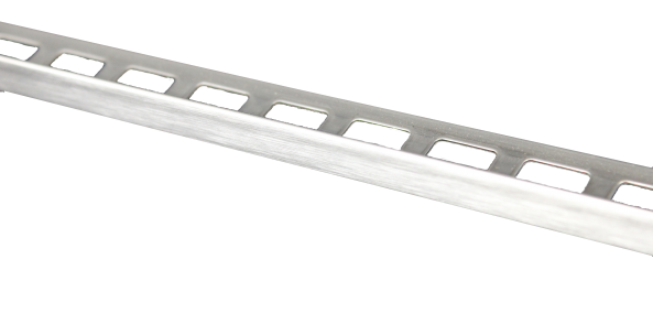 Dural Fliesenprofil Winkel Edelstahl gebürstet 10 mm CL 1072 250 cm
