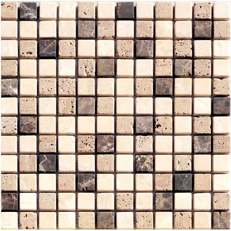 mosaik naturstein braun beige mix 30x30cm jetzt online bestellen. Black Bedroom Furniture Sets. Home Design Ideas